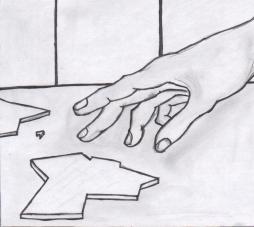 hand scherbe